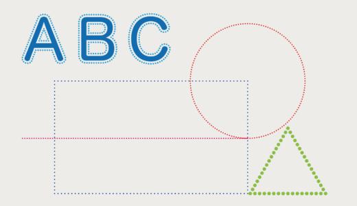 Illustrator|丸(ドット)の点線・囲み線を作る方法!【初心者も簡単】